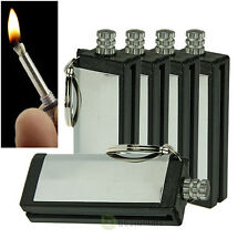 5x Survival Fire Starter Hiking Flint Match Metal Lighter Outdoor Camping Kit #1