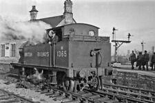 PHOTO  EX-MIDLAND 1P 0-4-4T NO. M1365 AT ASHCHURCH RAILWAY STATION 1948