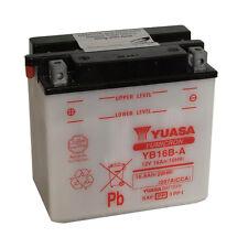 Batterie Moto Yuasa YB16B-A 12v 16.8AH 207A 160X90X161MM ACIDE OFFERT