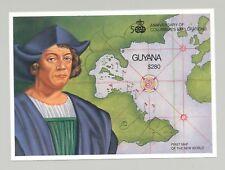 Guyana #2532 Maps, Columbus 1v S/S Imperf Proof