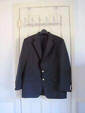 Burberry London Kensington 44R navy blue suit jacket trousers pants pleated
