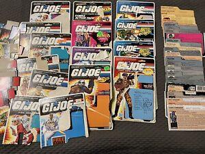 G.I. Joe ARAH - Filecard Cardback Cut Card Lot