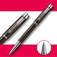 Luxurious Metal Parker IM Chocolate Roller Pen 0.5mm Fine Nib Rollerball Pen
