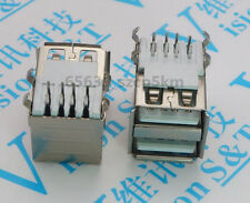 10 pcs Type A 8 Pin USB Dual Connector Socket Female PC Right Angle Laptop PCB