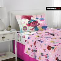 Trolls World Tour 3 Piece Microfiber Twin Bedding Sheet Set Pillowcase Kids