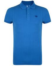Nuevo Para Hombre Adidas Originals Pique Polo Camisa Camiseta Top-Azul