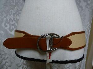 $48.00 Lauren Ralph Lauren Wide D-ring Canvas Belt, Natural Color, XL