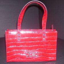 Guess Red Faux Croc Women's Small Handbag Purse