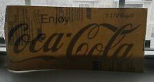 "Vintage ""ENJOY COCA-COLA"" WINDOW DECAL New-Old-Stock GRAY VINYL STICKER 16x7"""