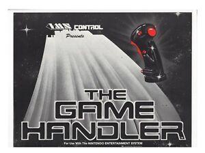 """Nintendo NES The Game Handler Advert 12x9"""" Display Register FLYER Authentic"""