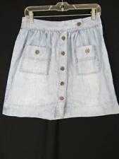 J Crew Denim Flare Skirt Size 6 Light Blue Button Down A Line Lightweight Short