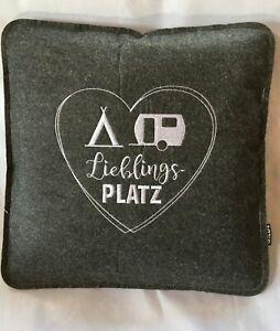 """GIlDE Kissen Sitzkissen mit Spruch """"Lieblingsplatz""""  ca. 37 x 37 cm - 45292"""