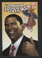 THE AMAZING SPIDER-MAN #583-BARACK OBAMA MARVEL 2nd Print Variant 9.6 NM