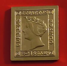 Moderno Oro Plateado 7.9g Plata Sello Lingote Espana Spain español Queen Isabella 2