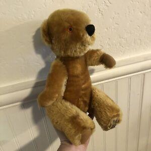"Merrythought Ironbridge Shrops Mohair Jointed Teddy Bear 16"" Made in England"