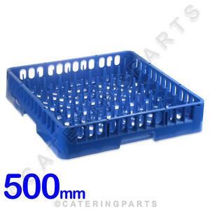 500mm SQUARE COMMERCIAL DISH-WASHER SPIKED BASKET TRAY PEGGED PLATE RACK 500