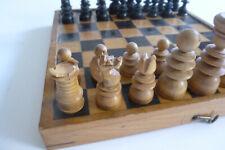 Antik*Klein*St. George*Schachspiel*+ Holz Schachbrett/Kassette* K = 6,2 cm
