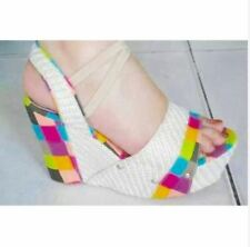 ❤️Malandita Wedge (LILIW WEDGE)❤️ 2 INCHES RAINBOW COLOR SIZE 8