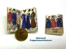 1334# Miniatur Nostalgie Zeitschrift Mode 1915 - Puppenhaus-Puppenstube - M1zu12
