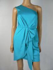 $108 BCBGeneration by BCBG Atlantis Blue Textured One Shoulder Dress 0 NWT B717