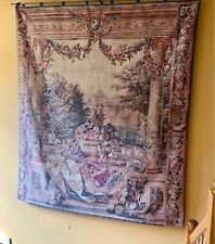 Chateau De Versailles Silkscreen Tapestry Wall Hanging. Rare Great Piece.