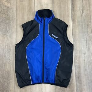 Pearl Izumi Cycling Vest Mesh Back Blue Full Zip Front Men's Size Large
