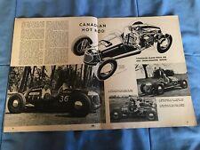 "1951 Jack Smith Rear Engine Dirt Track Racer Vintage Article ""Canadian Hot Rod"""