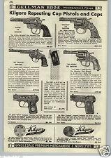 1952 PAPER AD Kilgore Repeating Cap Gun Pistol Eagle Big Horn Bronco Kit Carson
