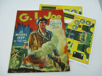 G I Joe Coloring Book Vintage Jeep Model Military War GI Toy Soldier 1950