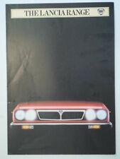 LANCIA RANGE orig 1983 UK Mkt Sales Brochure - Montecarlo Gamma HPE Coupe Delta