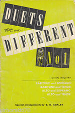 DUETS THAT ARE DIFFERENT No. 1 Sheet Music / Book - Religious Christian