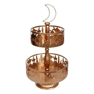 2 Tier Copper Metal Eid / Ramdan Stand Tray Tin
