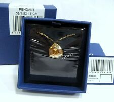 Swarovski Brief Pendant, Gold-Plated Necklace Chain Crystal Authentic - 5098369