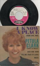 """PETULA CLARK   Rare 1965 French Only 7"""" OOP Vogue Pop P/C EP """"I Know A Place"""""""