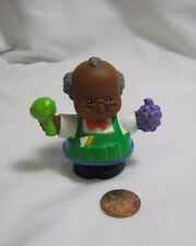 Fisher Price Little People SAM GROCER MAN African American Grapes Grocery Store