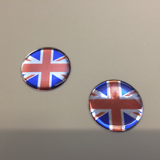 UNION JACK STICKERS X 2 - HIGH GLOSS DOMED GEL FINISH