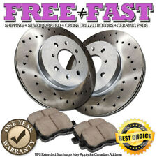 C0466 FRONT Drilled Brake Rotors Ceramic Pads FOR 2005 2006 2007 Pontiac Wave 5