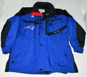 VTG New England Patriots Champion Brand Sideline Heavy Team Jacket Coat Mens L