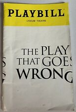 The Play That Goes Wrong Playbill NYC Broadway Ashley Bryant Mark Evans Aug 2018