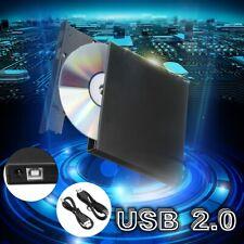 External USB2.0 DVD RW CD Writer Slim Drive Burner Reader Player For PC Laptop