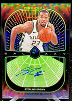 STERLING BROWN 2019-20 PANINI OBSIDIAN GALAXY AUTO ELECTRIC ETCH GREEN /25 SSP