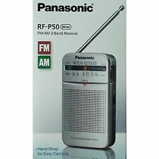 BRAND NEW Panasonic RF-P50 AM/FM Pocket Radio Portable 2-Band Receiver SILVER