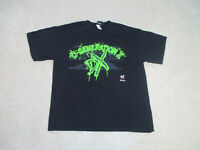 WWE D Generation X Shirt Adult Extra Large Black Green Wrestling WWF Wrestler *