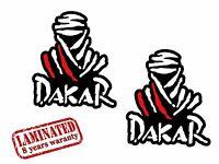 2 VINYL STICKERS DAKAR RALLY AUTO MOTO RACING MOTORCYCLE CAR HELMET TUNING Z 14