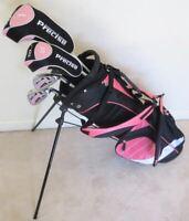 NEW RH Girls Jr Golf Club Set & Stand Bag for Kids Junior Ages 5-8 Pink Graphite