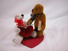World of Miniature Bears Plush Bears Valentine Lovers #857B Closing