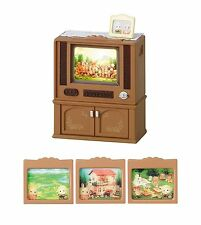 Sylvanian Families TELEVISION (TV) SET FOR LIVING ROOM Ka-516 Epoch Japan