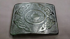 Men's Kilt Belt Buckle Torque with Celtic Knot Silver Finish/Celtic Belt Buckles