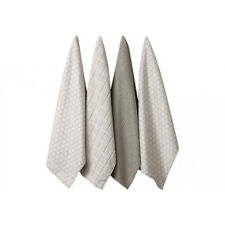 Ladelle Set of Four Microfibre Honeycombe Taupe Tea Towels