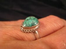 925 Silver Tibetan Turquoise stone Ring Nepal jewelry Size 8 US A886